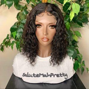 (SOLD) Wavy bob lace closure wig